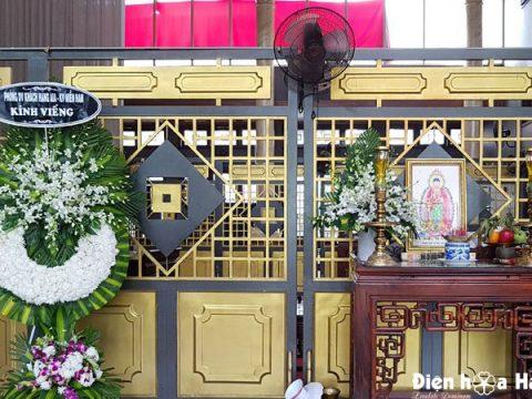 Vòng hoa đám tang giá rẻ nhà tang lễ bệnh viện Thống Nhất Tân Bình